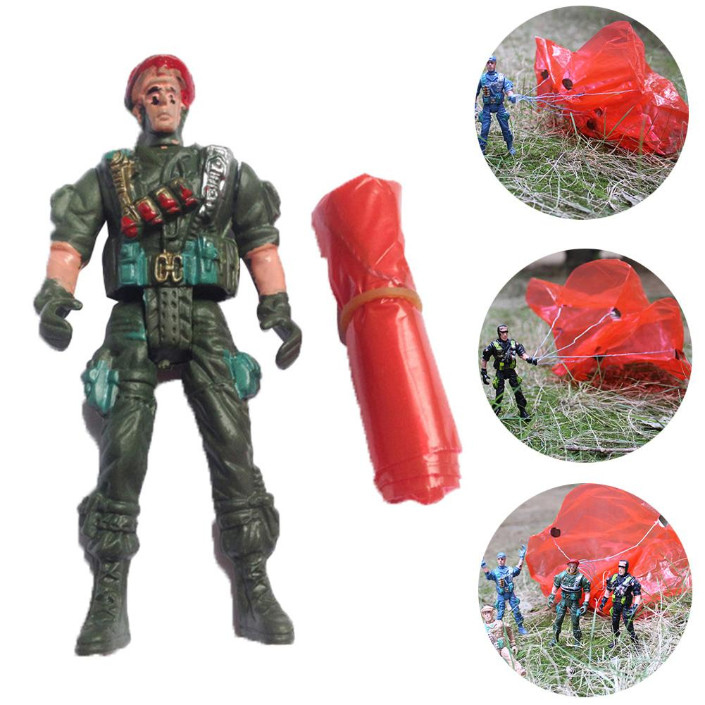 Army Movable Soldier Parachute Airborne Game Action Figures Collection Kids Toy For Boys Birthday Toys Gifts