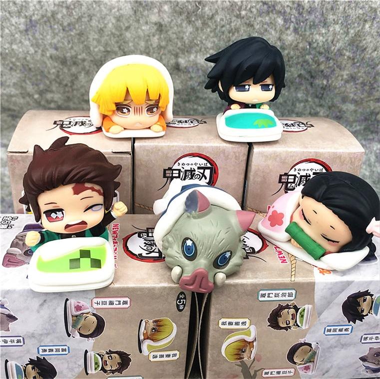 5cm Kamado Tanjirou Demon Slayer Kimetsu No Yaiba Tomioka Nezuko Agatsuma Zenitsu Hashibira Inosuke Kaigaku Action Figure Toys
