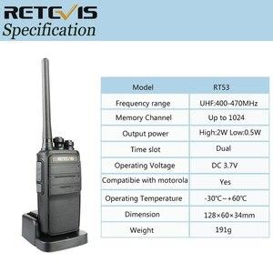 Image 5 - Retevis RT53 DMR 디지털 워키 토키 UHF DMO 복스 디지털 아날로그 양방향 라디오 Comunicador 송수신기 핸즈프리 워키 토키