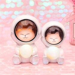 Galaxy guardian led night light berçário lua lâmpadas astronauta mesa luzes decorativas do bebê crianças brinquedos presente de aniversário transporte da gota