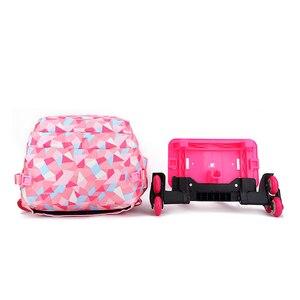 Image 4 - SIXRAYS çocuk erkek kız arabası Schoolbag bagaj kitap çanta sırt çantası son çıkarılabilir çocuk okul çantaları 3 tekerlekli merdiven