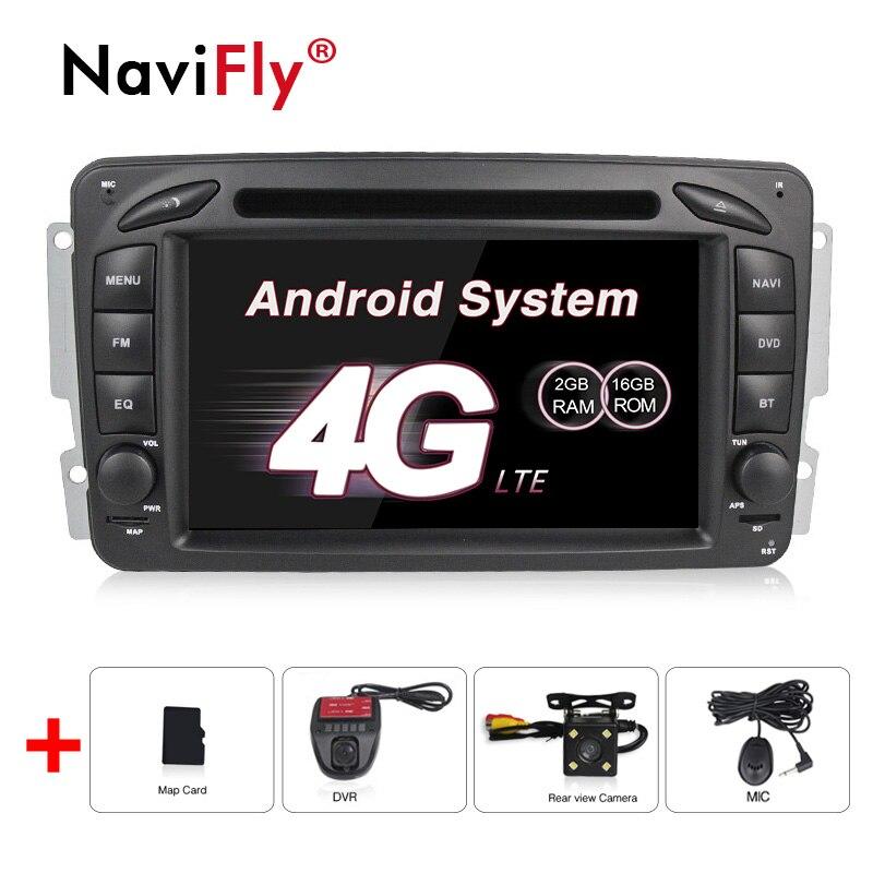 1024*600 HD écran Android8.1 lecteur multimédia de voiture pour Benz W203 W208 W209 W210 W463 Vito Viano GPS navigateur lecteur DVD