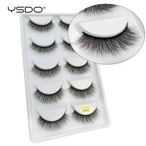Image 5 - YSDO lashes 5 pairs mink eyelashes natural long 3d mink lashes hand made false eyelashes dramatic eyelashes makeup fake lashes