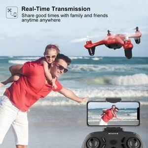 Image 4 - Zangão da câmera de atoyx com câmera hd não 4k mini zangão rc quadcopter fvp wifi com grande angular hd alta altura headless modo de espera