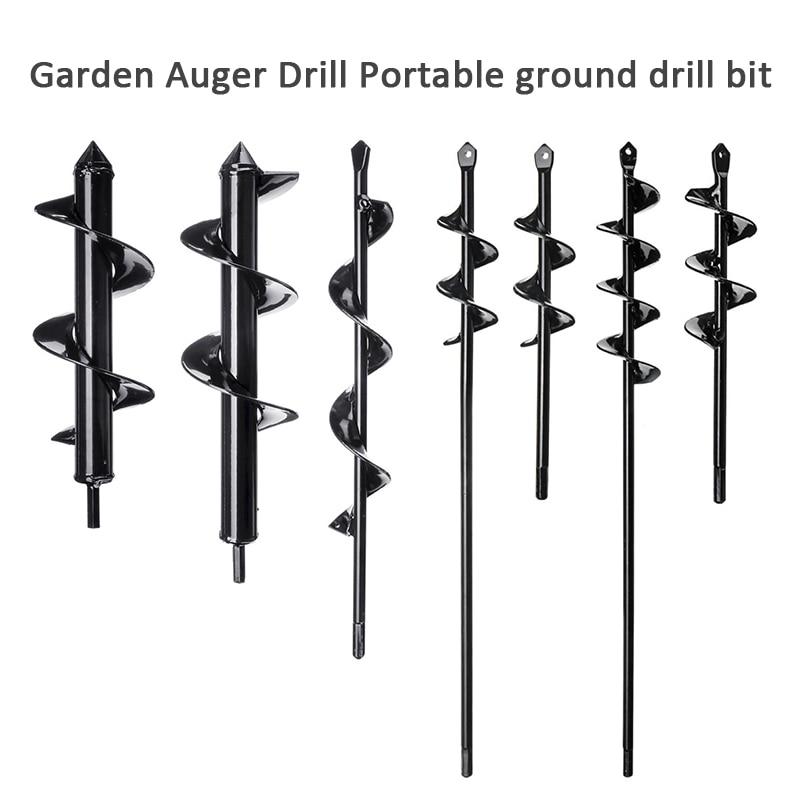 22cm Garden Auger Rapid Planter Flower Bulb Bedding Plant with 10mm Hex Drive Hole Digging Spiral Hole Drill Planter Auger Drill Bit for Planting 4