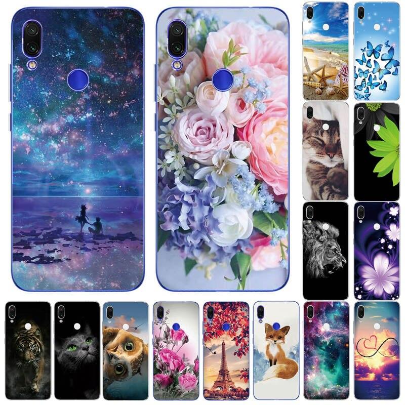 Funda de TPU suave para Xiaomi Redmi Note 7 6 Pro 5 Pro, funda transparente con flores y animales|Fundas antigolpes para teléfono| - AliExpress
