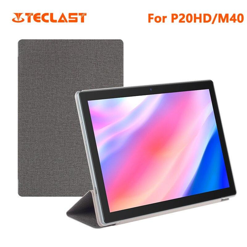 Funda protectora de piel sintética para tableta PC Teclast P20HD, carcasa protectora de negocios para Tablet PC Teclast M40 de 10,1 pulgadas