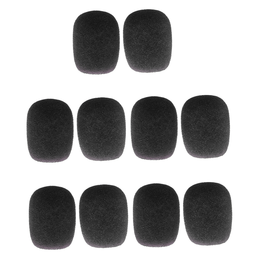 Practical Pack/20pcs Blue Black Sponge Clip-on Headset Microphone Windshields Mic Accessory