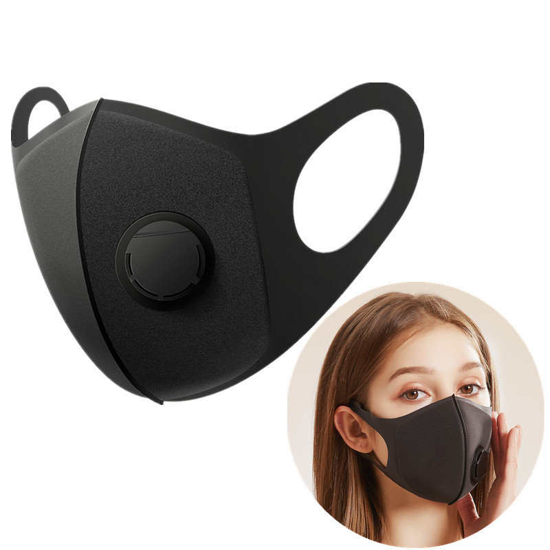 Thicken Respiratory Dust Mouth Mask Upgraded Version Men Women Anti-fog Haze Dust Pm2.5 Pollen 3D Cropped Breathable Valve Mask