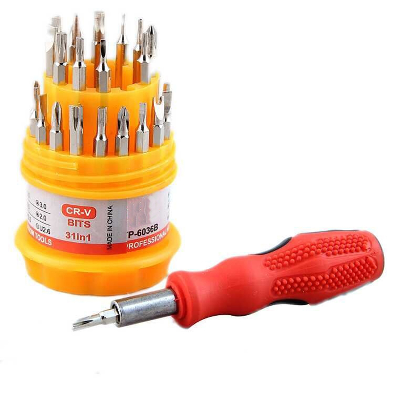 31Pcs Screwdriver Kit Small Mini Combination Universal Hand Tool Set Dismountable Antiskid Handle Multifunction Repair
