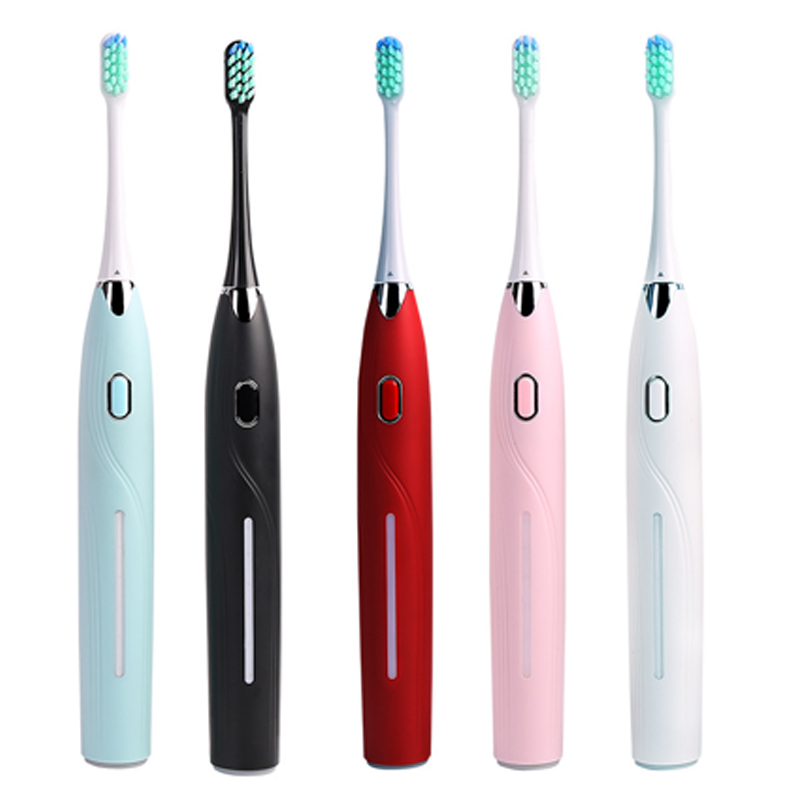 Electric Toothbrush Rechargeable Waterproof Teeth Brush Sonic Toothbrush Smart Timer Adult Brush USB Toothbrushes