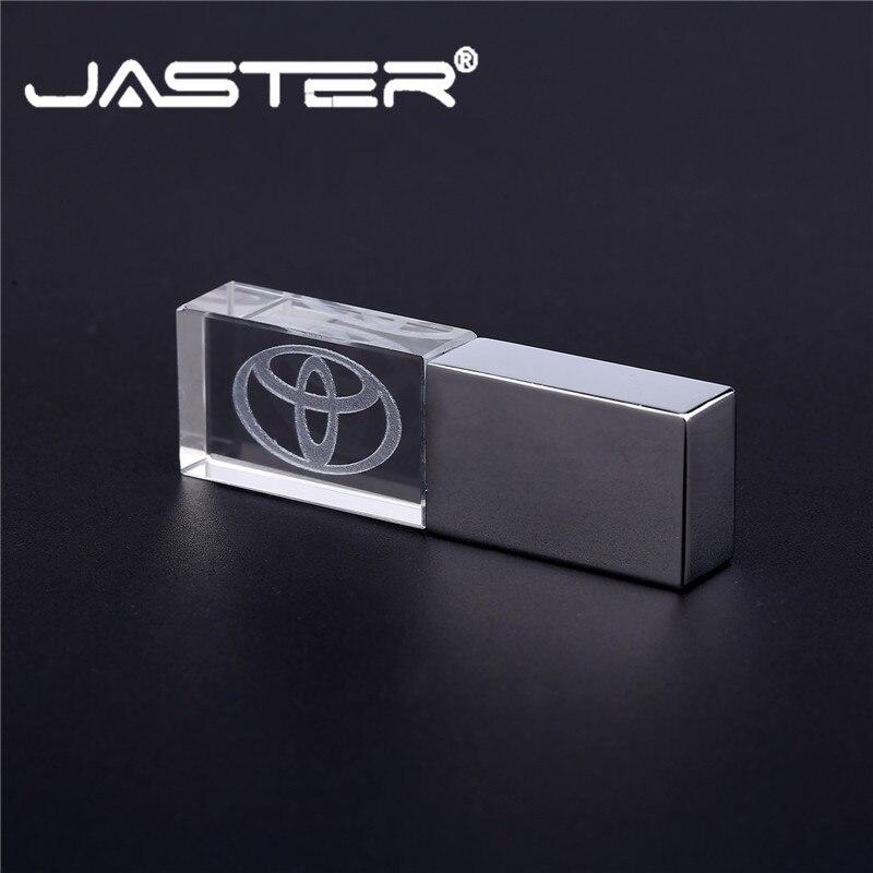 TOYOTA Crystal USB Flash Drive Pendrive USB 2.0 Memory Stick 4GB 8GB 16GB 32GB 64GB 128GB External Storage U Disk