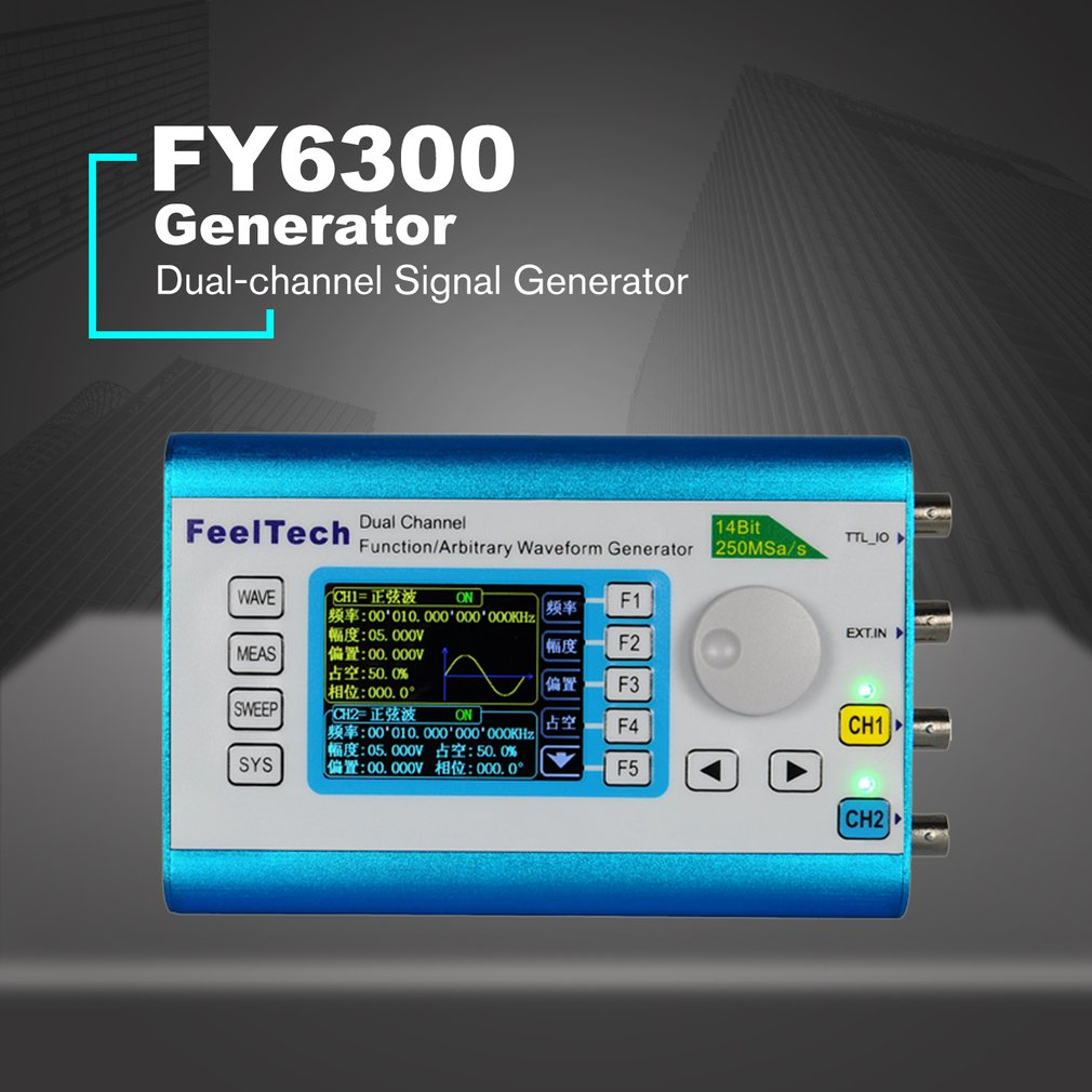 Digital Dual-channel DDS Signal Source Generator 250MSa/s 30MHz Arbitrary Waveform Function Frequency Meter