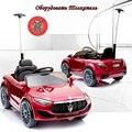 12V 1-4 Anos elétrica dual drive do carro das Crianças crianças de quatro-rodas de controle remoto pode sentar veículo de brinquedo do carro do balanço do bebê com push rod