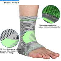 High Quality Breathable Foot Sleeve Yoga Fitness Workout Practical Anklet Protective Gear Ankle Support Anti Fatigue Socks Hot