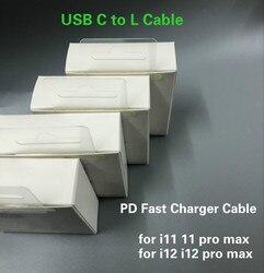 100 pçs/lote original oem qualidade carregador rápido cabo pd cabo 1m 3ft USB-C para l cabo para 11pro max 12pro 12 pro max com nova caixa