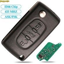 Jingyuqin – clé de voiture 5X, 433Mhz, ASK/FSK, ID46, pour Peugeot 307, 407, 607, Partner, Citroen C3, C4, C5, C6, C8, Xsara 3B, HCA/VA2, CE0536/807