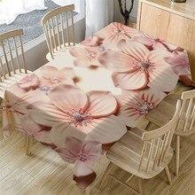 Mantel de decoración del hogar # YJ mantel de flores impresas 3D mantel de mesa Rectangular Vintage para bodas fiestas eventos banquetes