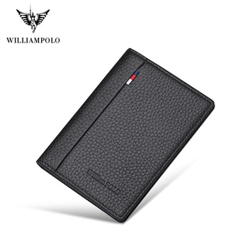 WilliamPolo  Wallet mens slim Credit Card Holder Bifold Mini Multi Card Case Slots  Cowhide Leather Wallet Ultra-thin williampolo 2019 men wallet short bifold credit card holder genuine leather organizer slim multi card case business casual purse