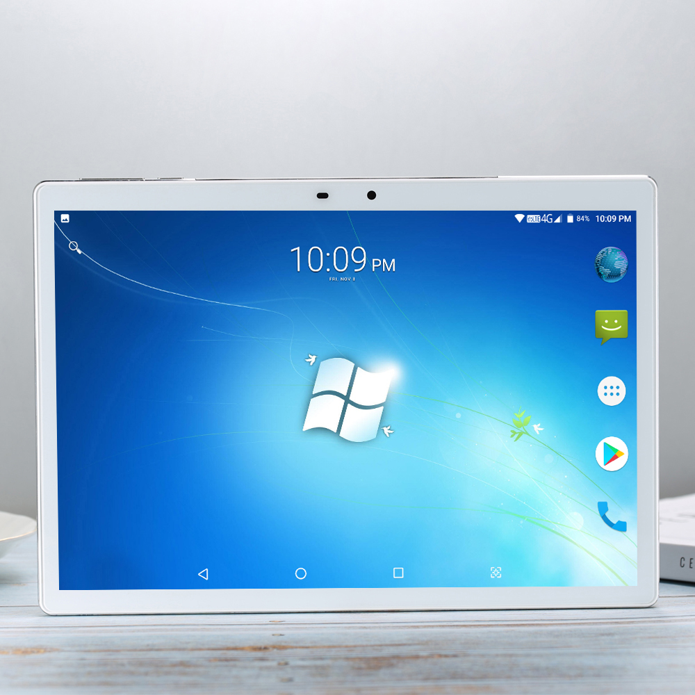 256G MTK6797 Tempered 2.5D Glass 4G FDD LTE 10.1 Inch Tablet Pc 10 Core 6GB RAM 256GB ROM IPS Screen WIFI Android 7.1.1 GPS