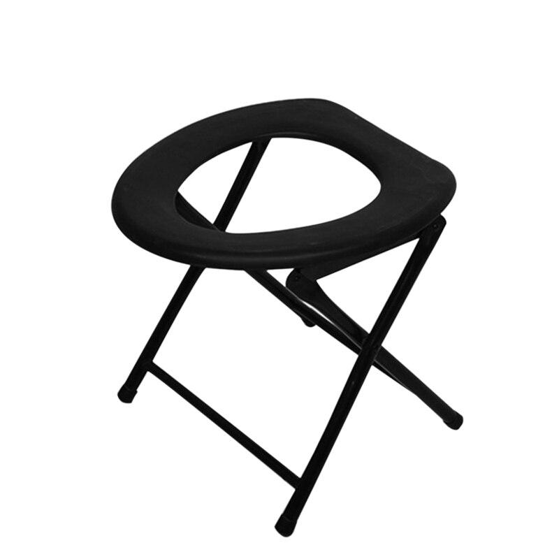 Taşınabilir güçlendirilmiş katlanabilir tuvalet sandalyesi seyahat kamp tırmanma balıkçılık Mate sandalye açık hava etkinliği aksesuarları title=