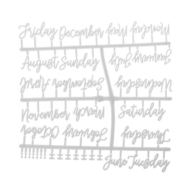 ตัวอักษรสำหรับ Felt Letter BOARD เดือนสัปดาห์ตัวอักษรสำหรับกระดานจดหมายเปลี่ยนได้
