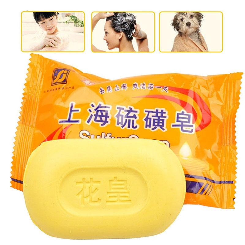1PCS Oil Control Soap Genuine Acne Wash Face Sterilization And Mite Itch Antipruritic To Acne Blackhead Cleansing Soap