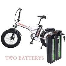 Складной электрический велосипед 20 дюймов 48 В/1000 Вт 4,0 толстых шин, электрический велосипед, пляжный/Снежный Круизер, велосипед, бустер для мужчин и женщин, электровелосипед