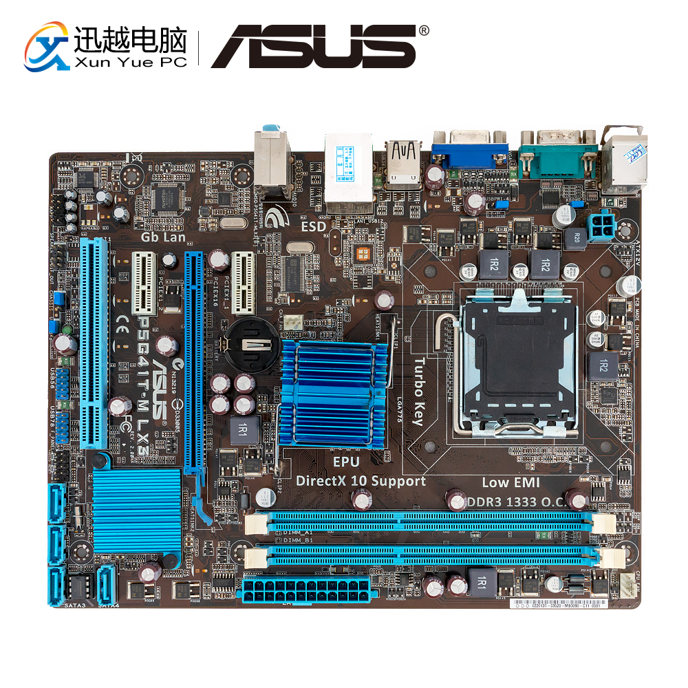 Asus P5G41T-M LX3 Desktop Motherboard G41 Socket LGA 775 For Core 2 Duo DDR3 8G SATA2 VGA UATX Used Mainboard
