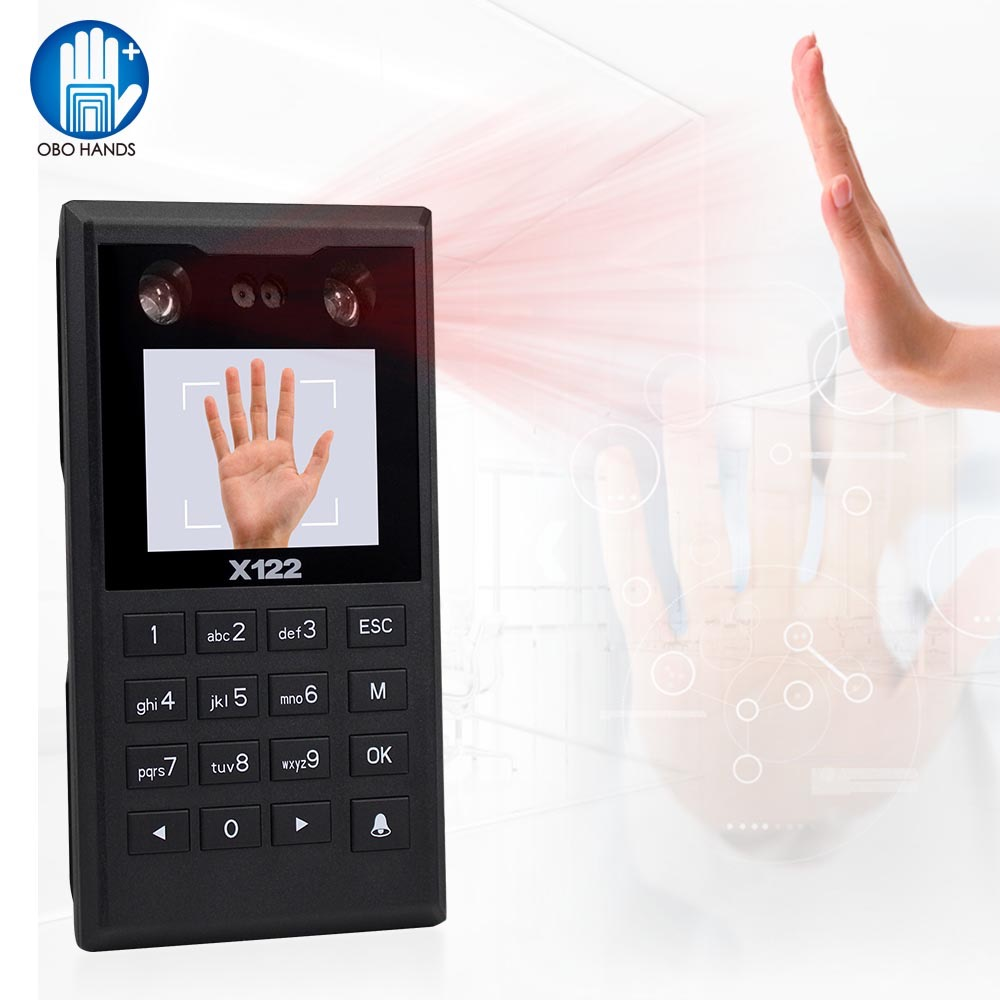2019 New Intelligent TCP/IP Palm Print Facial Access Control Keypad Biometrics Face Password Recognition Time Attendance Machine