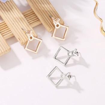 Hot Sale Trendy Cute Nickel Free Earrings Fashion Jewelry 2017 Earrings Square Stud Earrings For Women Brincos Brinco Oorbellen 4