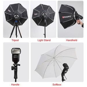 Image 2 - Triopo przenośna lampa błyskowa Speedlite Softbox z siatką o strukturze plastra miodu 65cm zdjęcie na zewnątrz Octagon parasol miękkie pudełko do Canon Nikon Godox