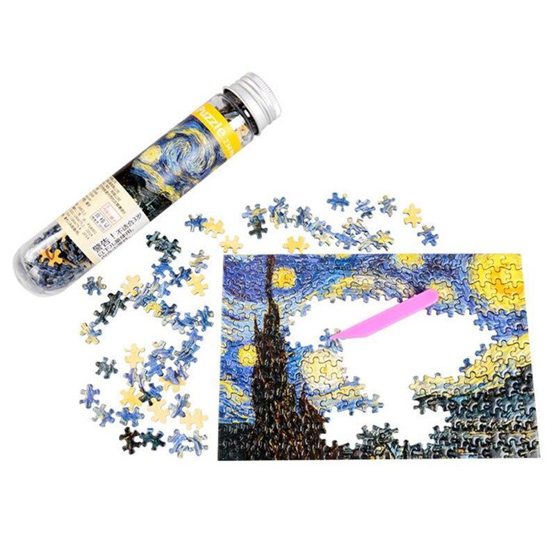 Multi-tipo paisagem puzzle jogo tubo de teste embalagem brinquedos educativos ou adultos puzzle brinquedos crianças 234 peças
