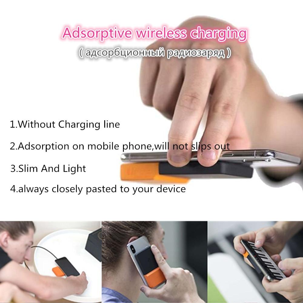 2019 BricksPower adsorbant sans fil charge batterie externe mince Powerbank externe chargeur de batterie étui pour iphone Samsung Xiaomi