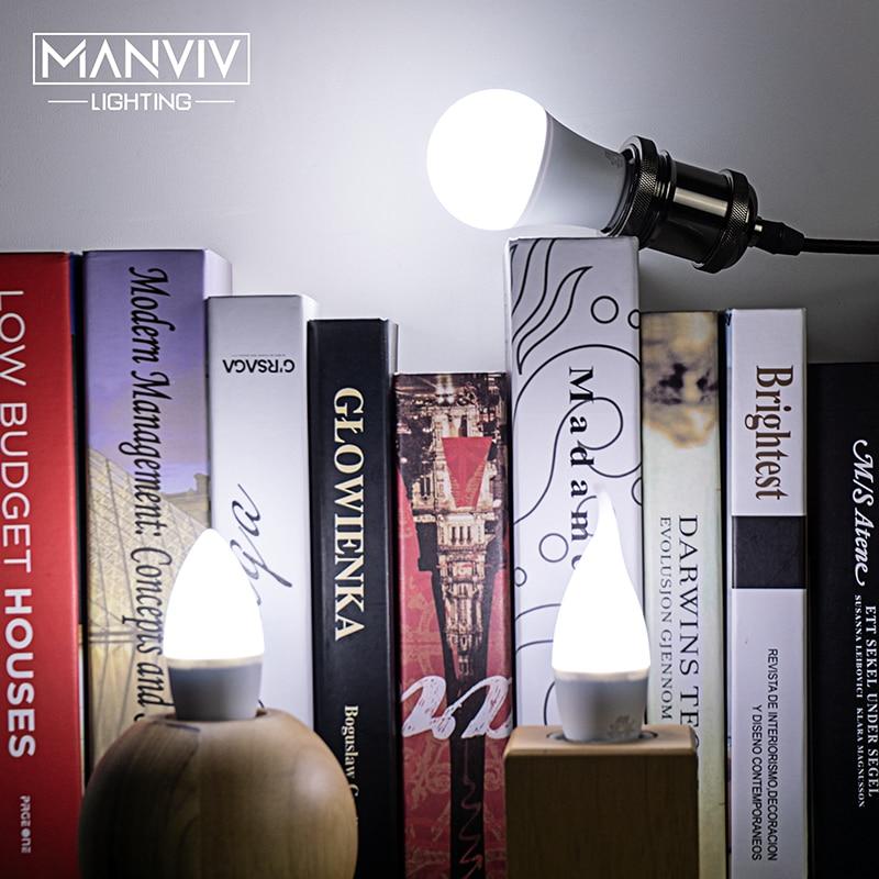 6pcs LED Bulb E27 E14 3W 5W 7W 9W 12W 15W 18W AC220V-240V Real Power Smart IC LED Lampada Bombilla Ampoule Cold White Warm White