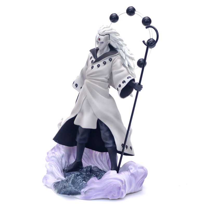 Anime Naruto 3 Heads Uchiha Madara Action Figure Rikudo Sennin PVC Model Toy Statue Birthday Xmas Gift B19 2