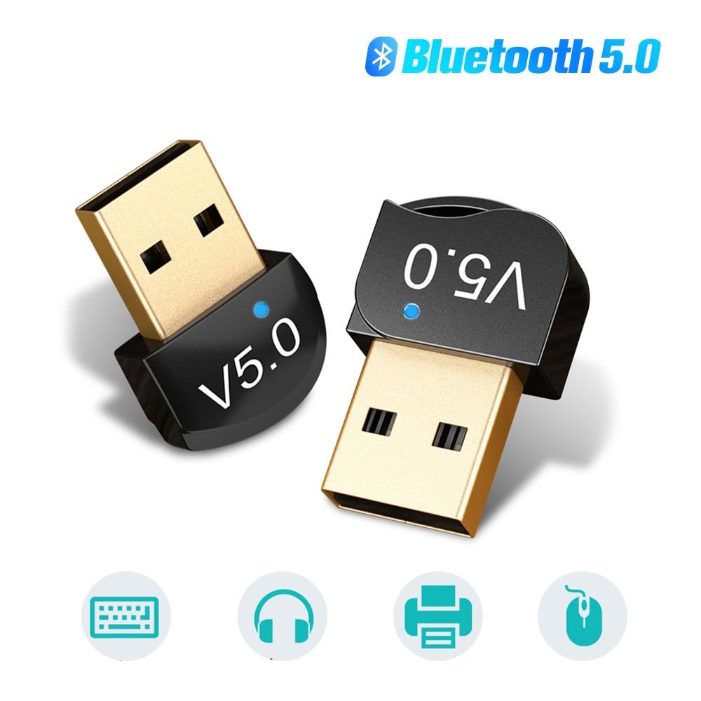 بلوتوث 5.0 جهاز إرسال سمعي بلوتوث صغير V5.0 استقبال USB محول للتلفزيون الكمبيوتر سيارة عدة لاسلكية الموسيقى المرسل