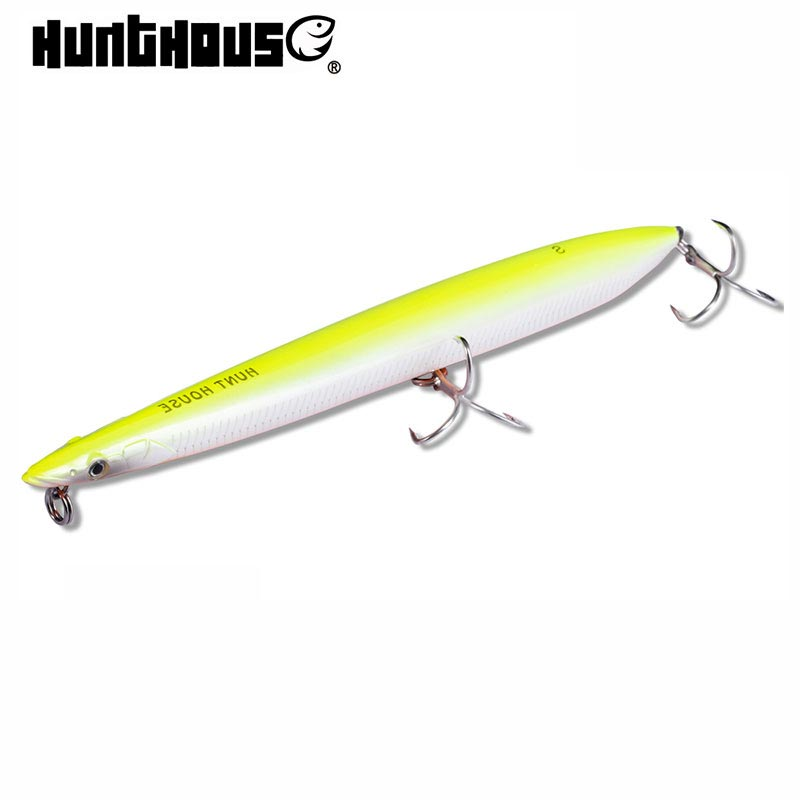 Hunthouse LW502 fishing lure wobblers pencil artificial bait 180mm floating sinking origin hook long casting fishing gear pesca