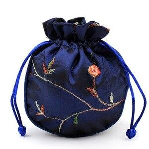 3 Pçs/set Kit Saco de Jóias Bolsa Com Cordão Sacos de Presente Bolsa de Moedas de Brocado QP2