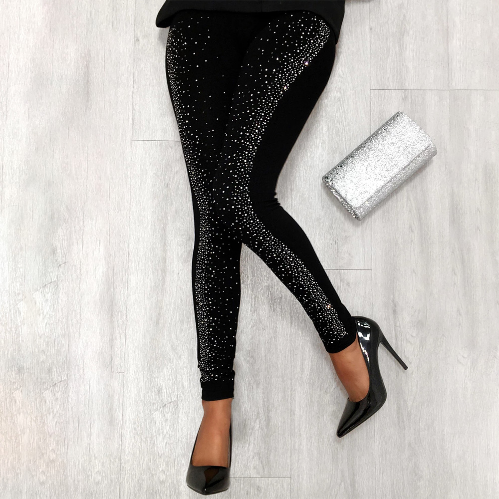 Drill Women Office Trousers Pencil Legging Black Wedding Party Club Lady Long Pants Black Slinging Sexy Female Trouser Leg D30