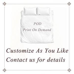 Image 5 - BeddingOutlet Juego de cama con mapa del mundo, funda nórdica para cama con estampado vívido azul, fundas de almohada, suave y acogedor, Textiles para el hogar, tamaño Queen, 3 unidades