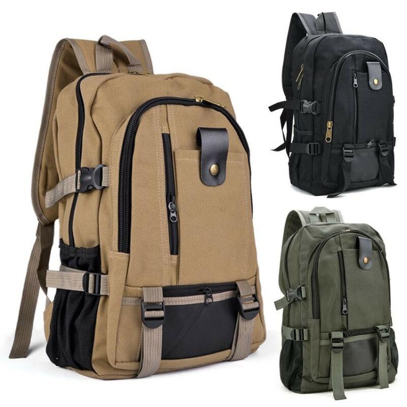 Ретро мужской рюкзак для путешествий, Холщовый однотонный Многофункциональный рюкзак для кемпинга, Противоугонный рюкзак Рюкзаки      АлиЭкспресс