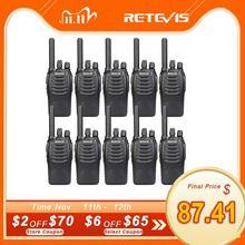 Retevis Walkie Talkie H777 Plus H777, Radio PMR PMR446 FRS, Cargador USB, Radio bidireccional práctica, Hotel, restaurante, almacén, 10 Uds.