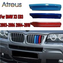 3 sztuk ABS kratka wyścigowa samochodu taśmy spinka do tapicerki dla BMW E83 X3 2003 2004 2005 2006 2007 2008 2009 2010 M mocy akcesoria samochodowe