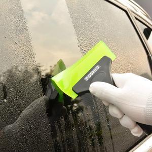Image 3 - Foshio車アイススクレーパーゴム雪シャベルカークリーニングツールワッシャー窓ガラス水ワイパービニール包装着色スキージ