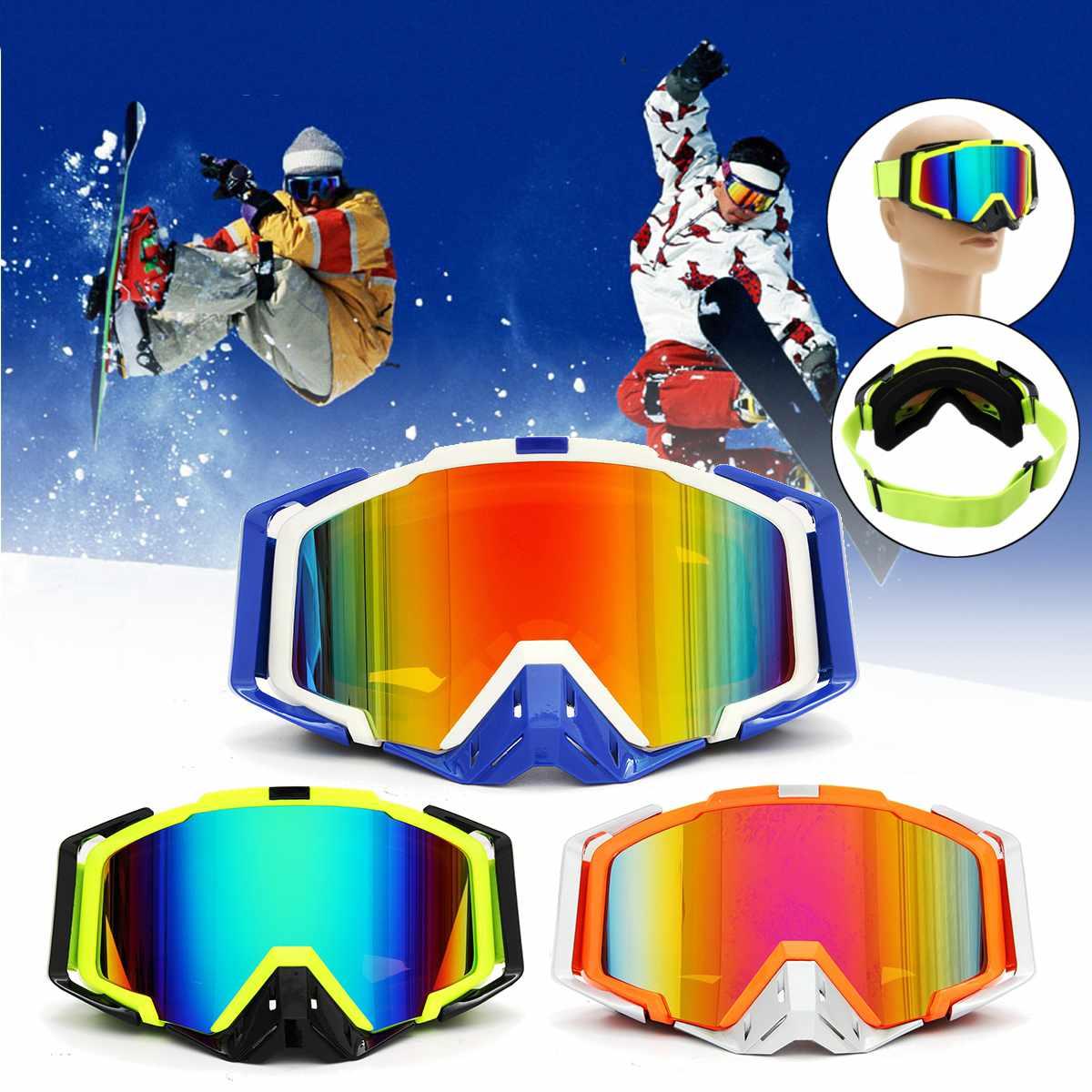 Motocross Motorcycle Goggles ATV Off Road Dirt Bike DustProof Racing Glasses Anti Wind Eyewear Protective Gears Skiing Goggles