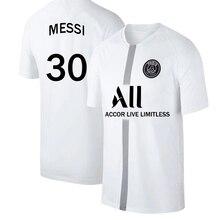 Large Size Men Soccer Jersey Adult Football Shirt   Messi  PSG Ligue Patch MBAPPE NEYMAR  Children