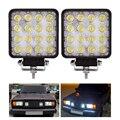 2 шт. 48 Вт 6000 К LED точечный луч квадратный рабочий свет лампа трактор внедорожник Грузовик 4WD 12 В 24 в водонепроницаемый для видов транспортных ...