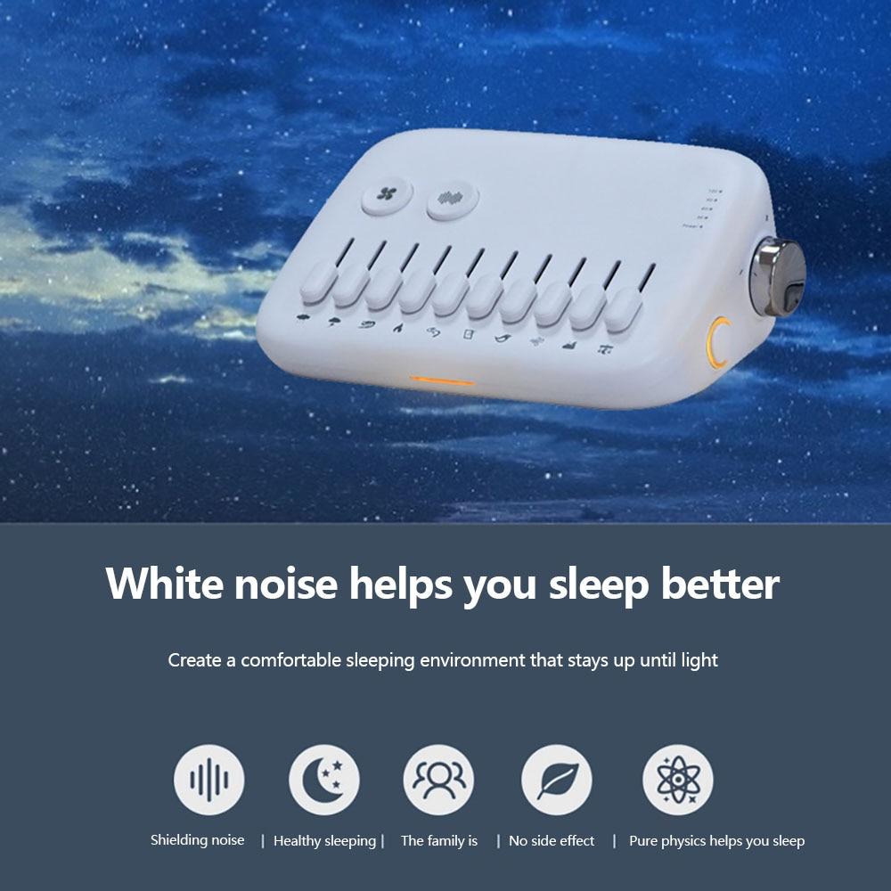 Portable White Noise Baby White Noise Toy Machine USB Rechargeable White Sleep Sound Machine Timing Sleeping Monitors Insomnia