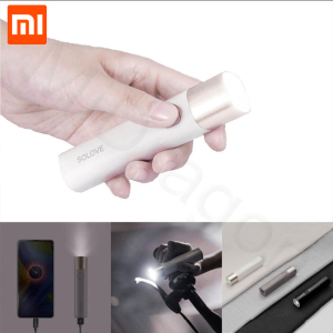 Image 1 - Xiaomi SOLOVE X3S USB Rechargeable Brightness EDC Flashlight 3000mAh Power Bank Portable Mini LED Torch for Outdoor Bike